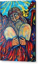 Moses Acrylic Print by Rae Chichilnitsky