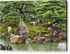 Mossy Japanese Garden Acrylic Print by Carol Groenen