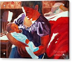 Mother And Newborn Child Acrylic Print by Kathy Braud