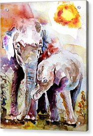 Mother And Son Acrylic Print by Steven Ponsford