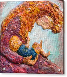 Mother Bonding IIi Acrylic Print by Naomi Gerrard