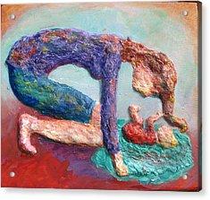 Mother Bonding Iv Acrylic Print by Naomi Gerrard