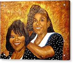 Mother Daughter Friend Acrylic Print by Keenya  Woods