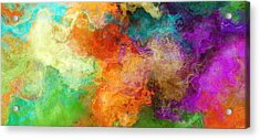 Mother Earth - Abstract Art Acrylic Print by Jaison Cianelli