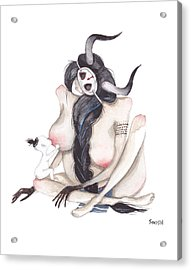 Mother Acrylic Print by Soosh