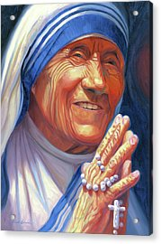 Mother Teresa Acrylic Print by Steve Simon