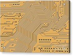 Motherboard - Printed Circuit Acrylic Print by Michal Boubin