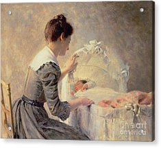 Motherhood Acrylic Print by Louis Emile Adan
