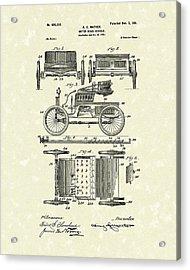 Motor Vehicle 1901 Patent Art Acrylic Print by Prior Art Design