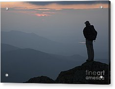 Mount Clay Sunset - White Mountains New Hampshire Usa Acrylic Print by Erin Paul Donovan