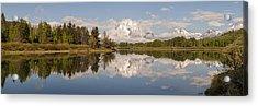Mount Moran On Oxbow Bend Panorama Acrylic Print by Brian Harig