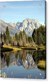 Mount Moran Reflections Acrylic Print by Marty Koch