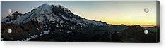 Mount Rainier Sunset Light Panorama Acrylic Print by Mike Reid