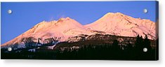 Mount Shasta At Sunset, California Acrylic Print by Panoramic Images