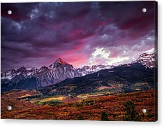 Mount Sneffels At Sunset Acrylic Print by Andrew Soundarajan