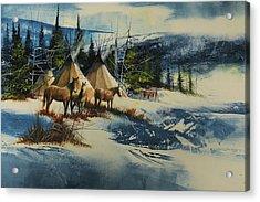 Mountain Camp Acrylic Print by Robert Carver
