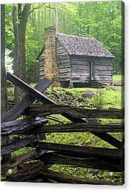 Mountain Homestead Acrylic Print by Marty Koch