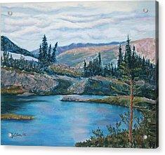 Mountain Lake Acrylic Print by Mary Benke