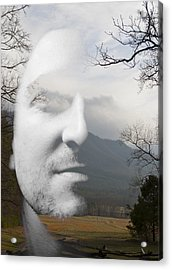 Mountain Man Acrylic Print by Christopher Gaston