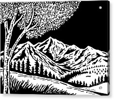 Mountain Scene Acrylic Print by Aloysius Patrimonio