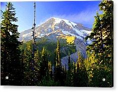 Mountain Sunset Acrylic Print by Marty Koch