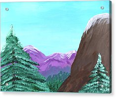 Mountain View Acrylic Print by M Valeriano
