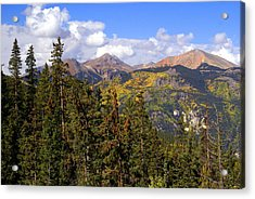 Mountains Aglow Acrylic Print by Marty Koch
