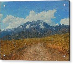 Mountains In Puru Acrylic Print by David Lane