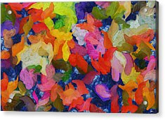 Mr Autumn Meets  Lady Spring - Painting - Wet Paint  Acrylic Print by Sir Josef Social Critic - ART