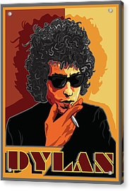 Mr Bob Dylan Acrylic Print by Larry Butterworth