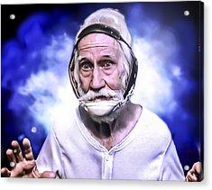 Mr. Joseph Blue Pulaski Acrylic Print by Nicholas  Grunas