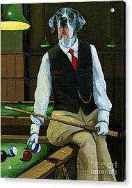 Mr. Thomas Tudor - Great Dane Portrait Acrylic Print by Linda Apple