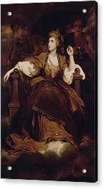 Mrs Siddons As The Tragic Muse Acrylic Print by Joshua Reynolds