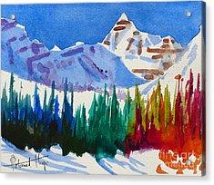 Mt. Athabasca, Jasper Acrylic Print by Mohamed Hirji
