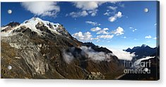 Mt Huayna Potosi And Zongo Valley Panorama Bolivia Acrylic Print by James Brunker