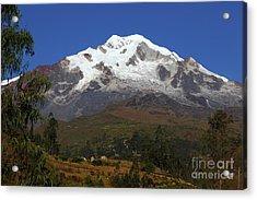 Mt Illampu And Rural Scene Near Sorata Bolivia Acrylic Print by James Brunker
