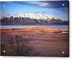 Mt. Timpanogos And Utah Lake Acrylic Print by Utah Images