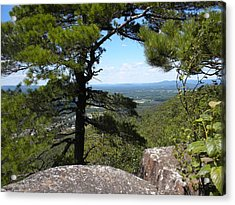 Mt. Tom View Acrylic Print by Karen Moulder