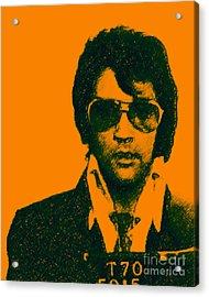Mugshot Elvis Presley Acrylic Print by Wingsdomain Art and Photography