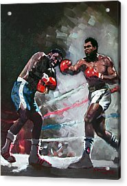 Muhammad Ali And Joe Frazier Acrylic Print by Ylli Haruni