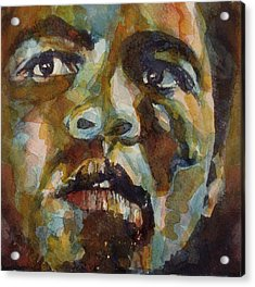 Muhammad Ali   Acrylic Print by Paul Lovering