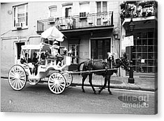 Mule And Buggy French Quarter New Orleans Acrylic Print by Thomas R Fletcher