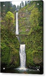 Multnomah Falls Acrylic Print by Jon Burch Photography