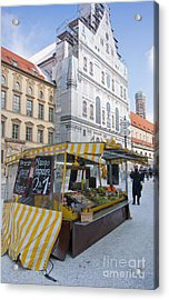 Munich Fruit Seller Acrylic Print by Andrew  Michael