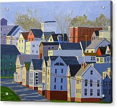 Munjoy Afternoon Acrylic Print by Laurie Breton
