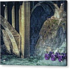 Munroe Street Bridge Acrylic Print by Dennis Herzog