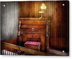 Music - Organist - A Vital Organ Acrylic Print by Mike Savad
