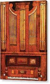 Music - Organist - Skippack  Ville Organ - 1835 Acrylic Print by Mike Savad