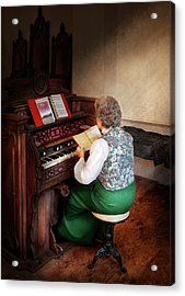 Music - Organist - The Lord Is My Shepherd  Acrylic Print by Mike Savad