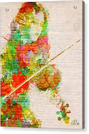 Music In My Soul Acrylic Print by Nikki Smith